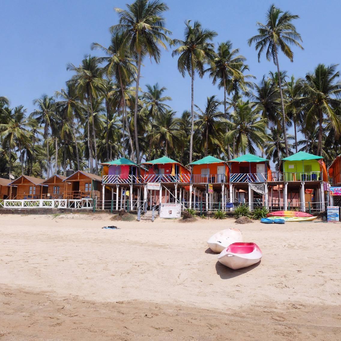 La plage à Palolem Goa